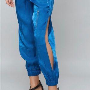 Bebe Blue Glitter Tracksuit jogger pants size S